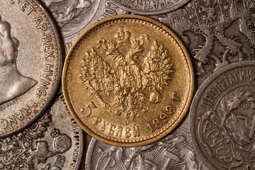Royal gold coin 1898. Russian silver coins of the early twentieth century