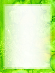 Green watercolor frame