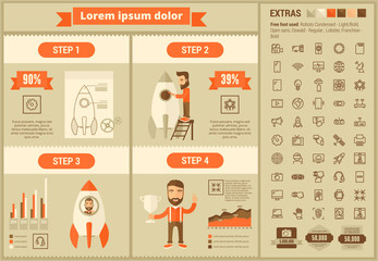 Start up flat design Infographic Template