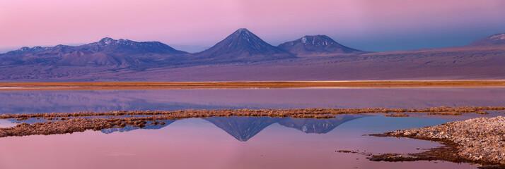 Tebenqueche lagoon, Licancabur volcano, Atacama desert, Chile