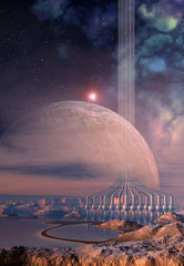 3d rendered fantasy alien planet
