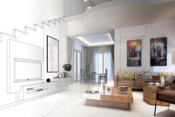 Modern furnishing (project)