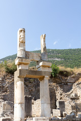 Ancient ruins in Ephesus Turkey