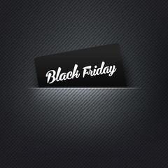 Black Friday label in poket card, vector illustration