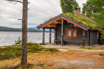 Wall Mural - Cabin with turf roof  in Norway