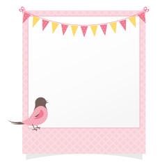 Sweet Polaroid with Garland and Bird