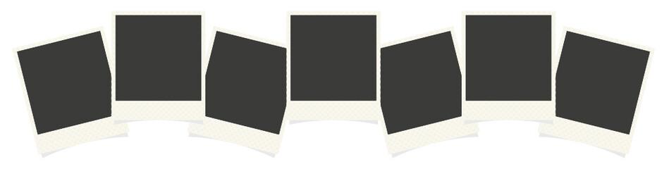 Vector polaroid photo frames