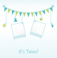 "Sweet Baby Card ""It`s Twins"""
