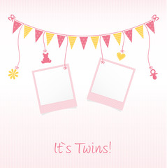 "Sweet Baby Card ""It`s Twins"""