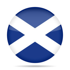 button with flag of Scotland