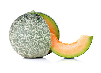 melon isolate on a white background.