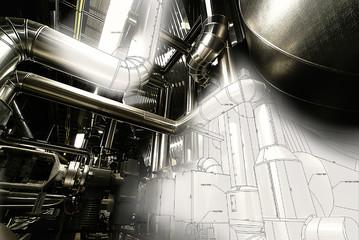 pipeline cad design concept