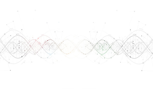 DNA Abstract backgroundcollection. Futuristic technology interfa