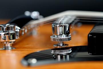 E-Gitarre Details mit Spiegelung
