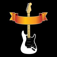 Guitar grunge banner in vector format