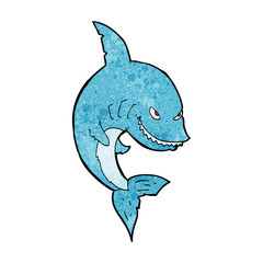 funny cartoon shark
