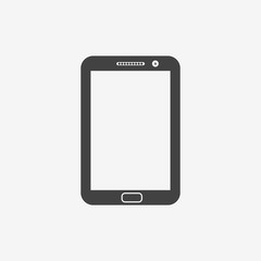 Tablet pc monochrome icon