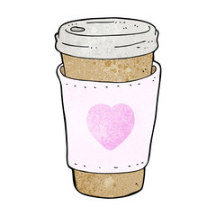 cartoon I love coffee cup