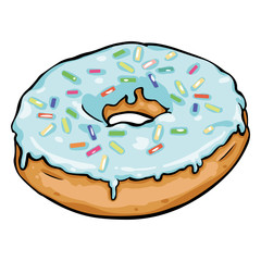 Vector Single Cartoon Doughnut