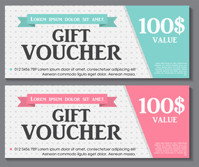 Search photos vouchers gift voucher template with sample text vector illustration yadclub Choice Image