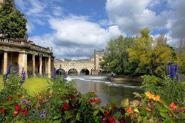 cityscape in the medieval town Bath, Somerset, England Fototapete