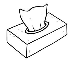 box of tissue paper /