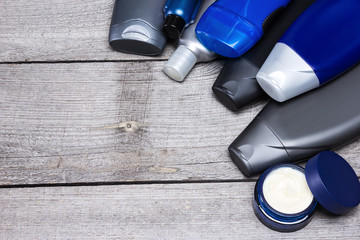Cosmetics for men background