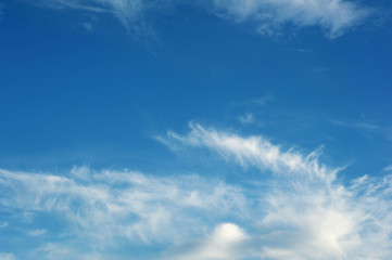 Texture of blue sky with  clouds