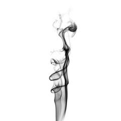 Black smoke swirls