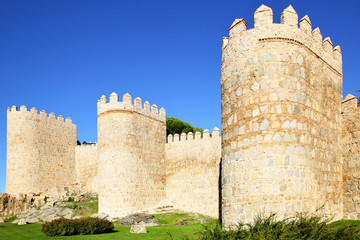 Wall Mural - City wall of Avila
