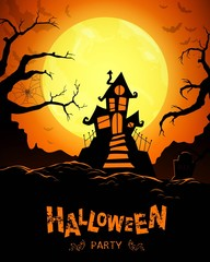 Vector Illustration of a Happy Halloween Poster