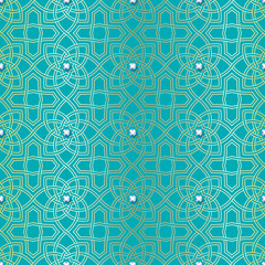 Arabesque seamless beautiful background pattern.
