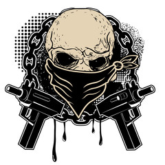 skull and two pistols