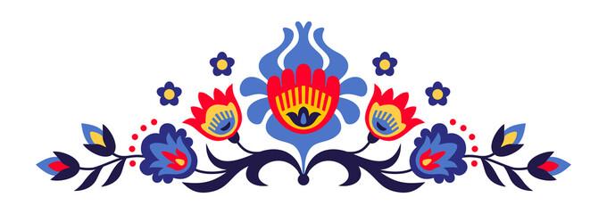 Papercut polskich kwiatów ludowych - 92312208