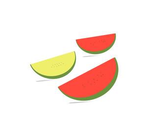 Watermelon fruit  meat  fruit  white background