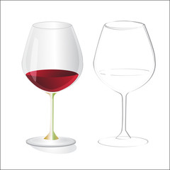 two wine glass