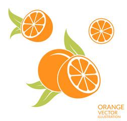 Orange. Isolated fruit on white background