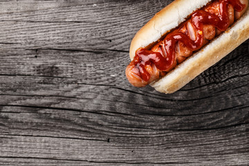 Wall Mural - Barbecue grilled hot dog