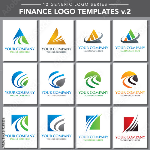 Generic Logo Series Finance Logo Template V Stock Image And - Generic company logo free