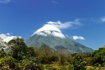 concepcion volcano view from Ometepe Island, Nicaragua