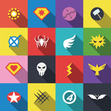 superhero badge logo
