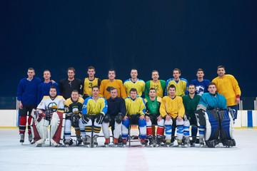 ice hockey players team portrait