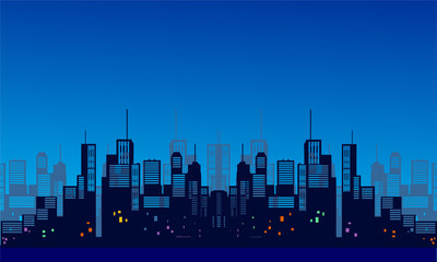 urban skyline vector