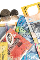Australian currency used to purchase goods, also known as AUD.