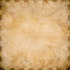 old pirates map square form