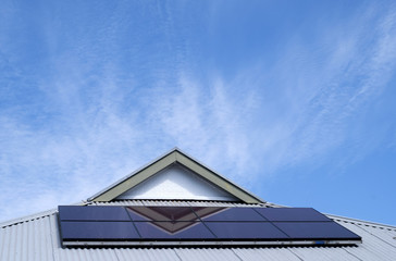 Solar panel on home roof