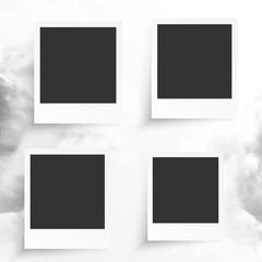 Vector white frames.