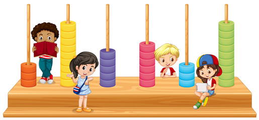 Children and math game
