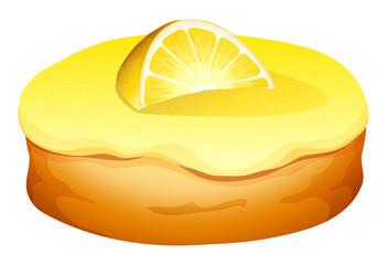 Doughnut with lemon cream