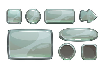 Cartoon silver game assets